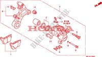 REAR BRAKE CALIPER Frame 1000 honda-motorcycle CBR 2008 F__1300