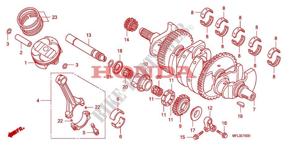 CRANKSHAFT for Honda CBR 1000 RR FIREBLADE 2008 # HONDA Motorcycles & ATVS  Genuine Spare Parts CatalogBike Parts-Honda