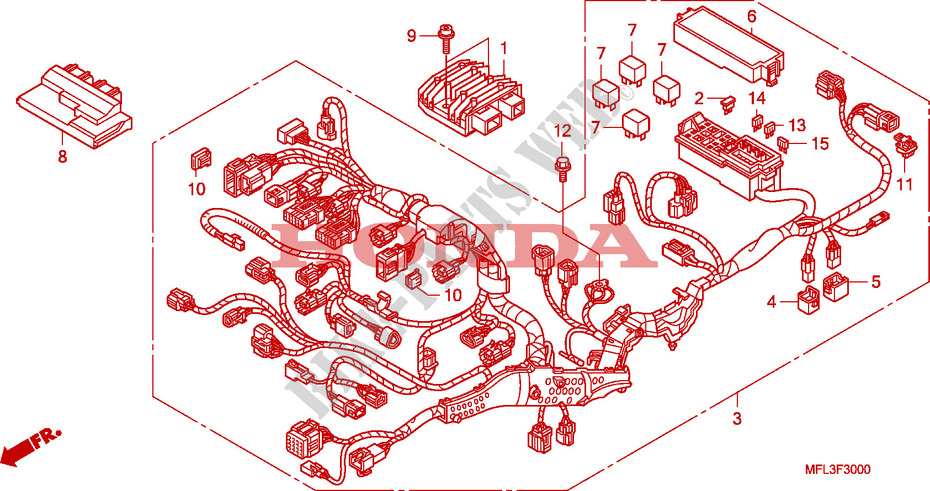 [ANLQ_8698]  WIRE HARNESS for Honda CBR 1000 RR FIREBLADE LARANJA 2010 # HONDA  Motorcycles & ATVS Genuine Spare Parts Catalog | 2010 Cbr 1000 Wire Diagram |  | Bike Parts-Honda
