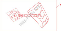 TANKPAD / FUEL LID COVER Honda motorcycle microfiche diagram CB1300SAA 2010 CB 1300 abs * fairing