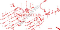 RIGHT CRANKCASE COVER Honda motorcycle microfiche diagram CB1300SAA 2010 CB 1300 abs * fairing