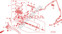 CLUTCH MASTER CYLINDER Honda motorcycle microfiche diagram CB1300SAA 2010 CB 1300 abs * fairing