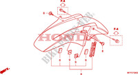 FRONT FENDER Honda motorcycle microfiche diagram CB1300SAA 2010 CB 1300 abs * fairing