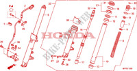 FRONT FORK Honda motorcycle microfiche diagram CB1300SAA 2010 CB 1300 abs * fairing