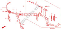 STAND Honda motorcycle microfiche diagram CB1300SAA 2010 CB 1300 abs * fairing