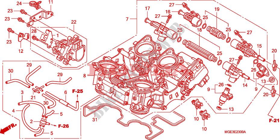 Throttle Body For Honda Vfr 1200 2010   Honda Motorcycles