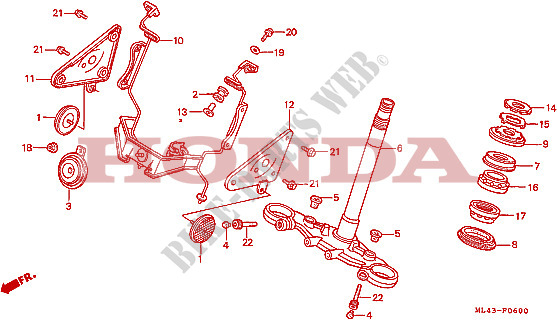 CB350 SG 1986 Brake Caliper Front L//H Seals