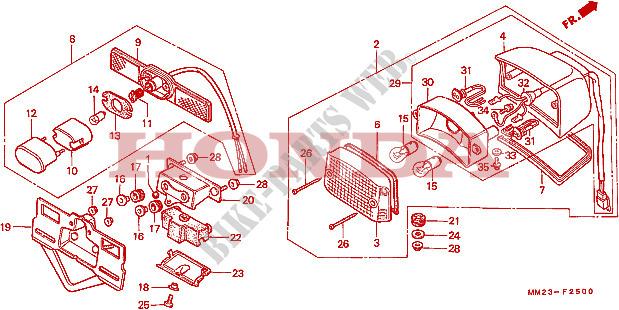 Taillight  2  For Honda Cmx 450 C Rebel 1986   Honda