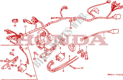 1986 honda rebel wiring harness diagram 2003 honda accord wiring harness diagram wire harness ignition coil frame cmx450cg 1986 rebel 450 ...
