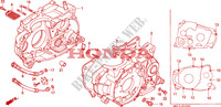 CRANKCASE Engine 600 honda-motorcycle XR 1996 E__1000