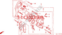 FRONT BRAKE CALIPER Frame 600 honda-motorcycle XR 1995 F__0900