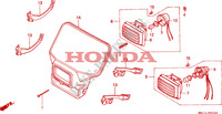 HEADLIGHT (1) Frame 600 honda-motorcycle XR 1995 F__0100