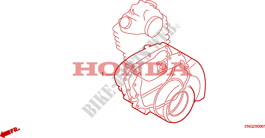 Honda MOTO 600 XR 1995  XR600RS Engine GASKET KIT B