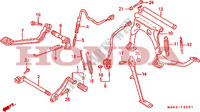 PEDAL/STAND (GL1500AN/SEN) Frame 1500 honda-motorcycle GOLD-WING 1992 F__2601