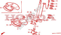 STEERING STEM Frame 1500 honda-motorcycle GOLD-WING 1992 F__0800