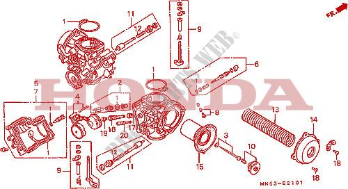 Brilliant Carburetor Component Parts Engine Gl1500K 1989 Gold Wing 1500 Moto Wiring Digital Resources Instshebarightsorg