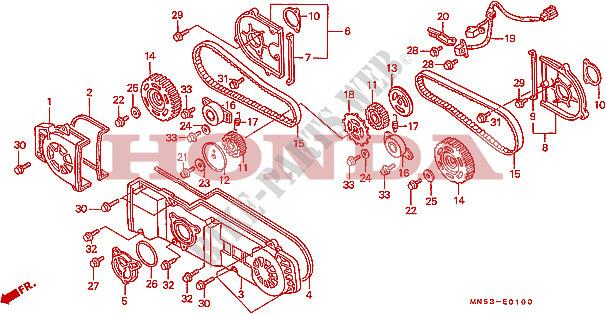 Strange Front Cover Timing Belt Engine Gl1500L 1990 Gold Wing 1500 Moto Wiring Digital Resources Instshebarightsorg