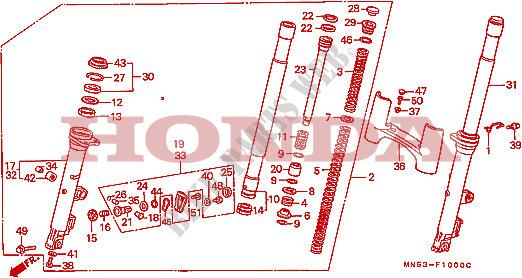 Ressorts de fourche FRONT-FORK-Honda-MOTO-1500-GOLD-WING-1992-GL1500SEN-F__1000