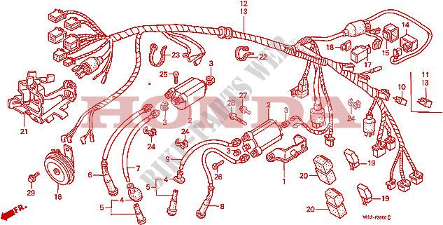 Wire Harness For Honda Vt Shadow 600 1988   Honda