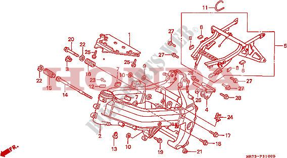 Frame For Honda Rc30 750 1989   Honda Motorcycles  U0026 Atvs Genuine Spare Parts Catalog