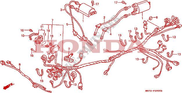 Wire Harness Ignition Coil Frame Vfr750rj 1988 Vfr 750