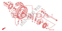 REAR WHEEL for Honda CBR 1000 1992
