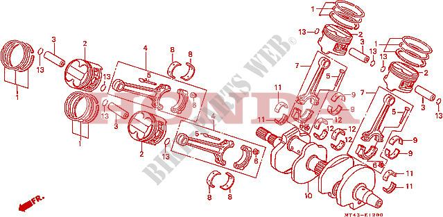 Crankshaft For Honda Vfr 750 1993   Honda Motorcycles