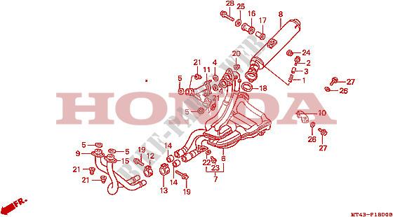 Exhaust Muffler  Vfr750fl  Fm  Fn  Fp  For Honda Vfr 750 1990