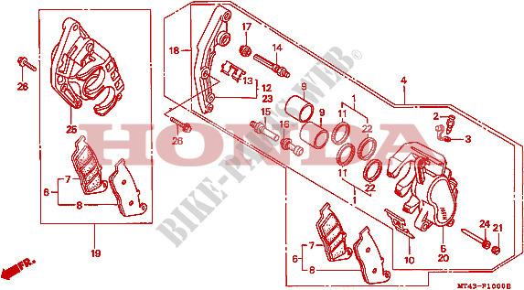 front brake caliper for honda vfr 750 1995 honda motorcycles Riding a 1995 VFR 750