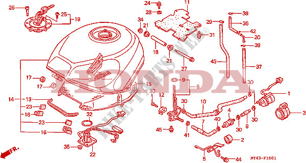 95 Vfr 750 Honda Engine Diagram