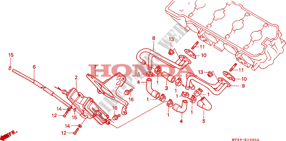 AIR SUCTION VALVE (AR/AW) for Honda CBR 600 F 1992