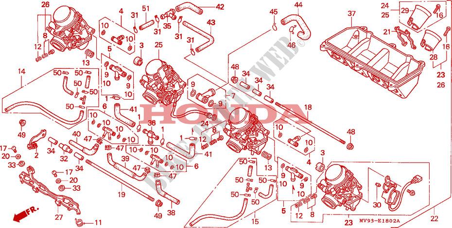 Carburetor  Cbr600fs  3s  T  3t  Set  For Honda Cbr 600 F3 1996   Honda Motorcycles  U0026 Atvs Genuine