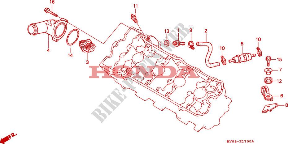 honda moto 600 cbr 1994 cbr600fr engine thermostat