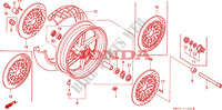 FRONT WHEEL (1) Frame 900 honda-motorcycle CBR 1995 F__1000
