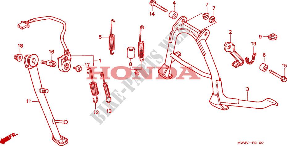HONDA 50541-MS9-000 SPRING MAIN STAND