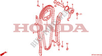 CAM CHAIN/TENSIONER Engine 650 honda-motorcycle NX 1993 E__0400