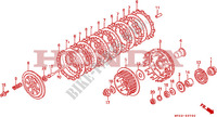 CLUTCH Engine 650 honda-motorcycle NX 1993 E__0700