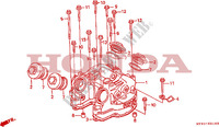 CYLINDER HEAD COVER Engine 650 honda-motorcycle NX 1993 E__0100