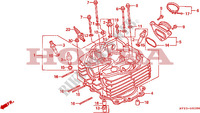 CYLINDER HEAD Engine 650 honda-motorcycle NX 1993 E__0200
