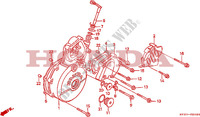 LEFT CRANKCASE COVER Engine 650 honda-motorcycle NX 1993 E__0900