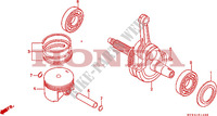 PISTON/CRANKSHAFT Engine 650 honda-motorcycle NX 1993 E__1400