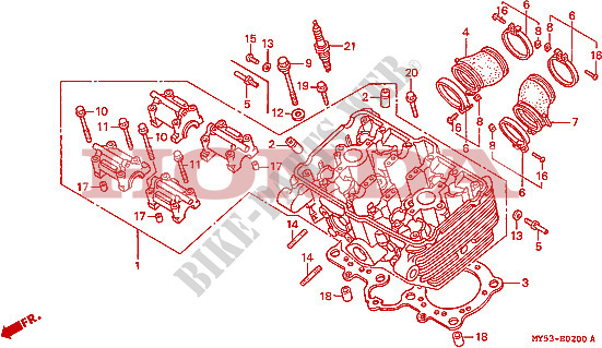 CYLINDER HEAD for Honda CB 500 1994