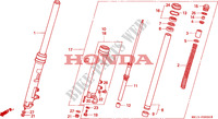 FRONT FORK for Honda BIG ONE 1000 1994