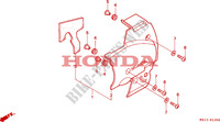 LEFT SIDE COVER for Honda BIG ONE 1000 50HP 1995
