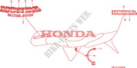 STICKERS for Honda BIG ONE 1000 1996