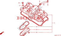 CYLINDER HEAD COVER Honda motorcycle microfiche diagram CBR1000FP 1993 CBR 1000 F