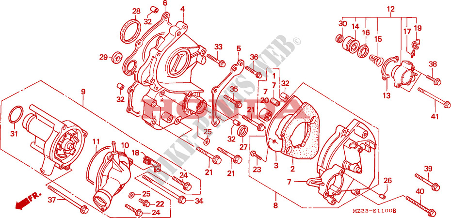 1000 CC Honda CBR 1000 FT  1996 Full Gasket Set