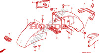 FRONT FENDER Frame 1500 honda-motorcycle GOLD-WING 1993 F__0900