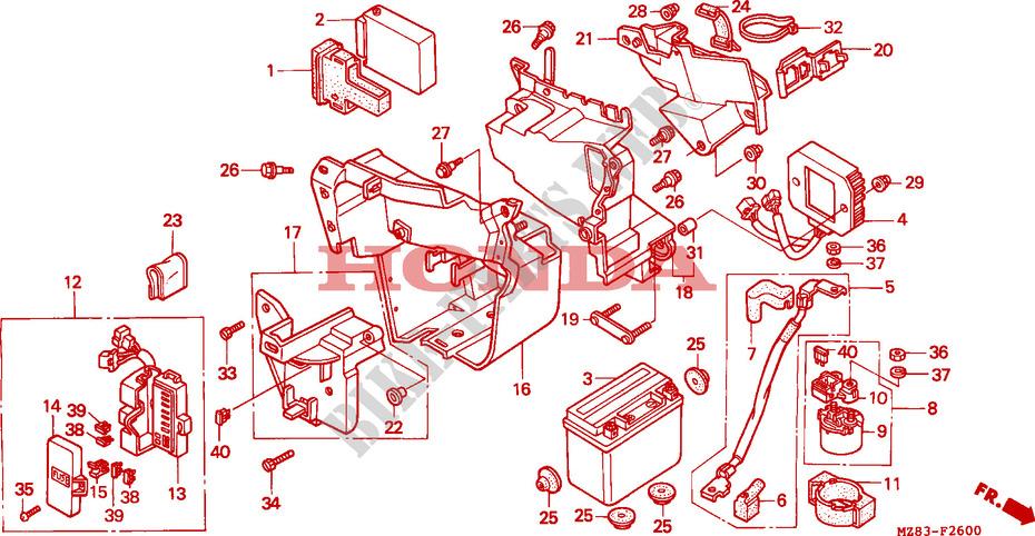 Battery For Honda Steed 400 1995   Honda Motorcycles