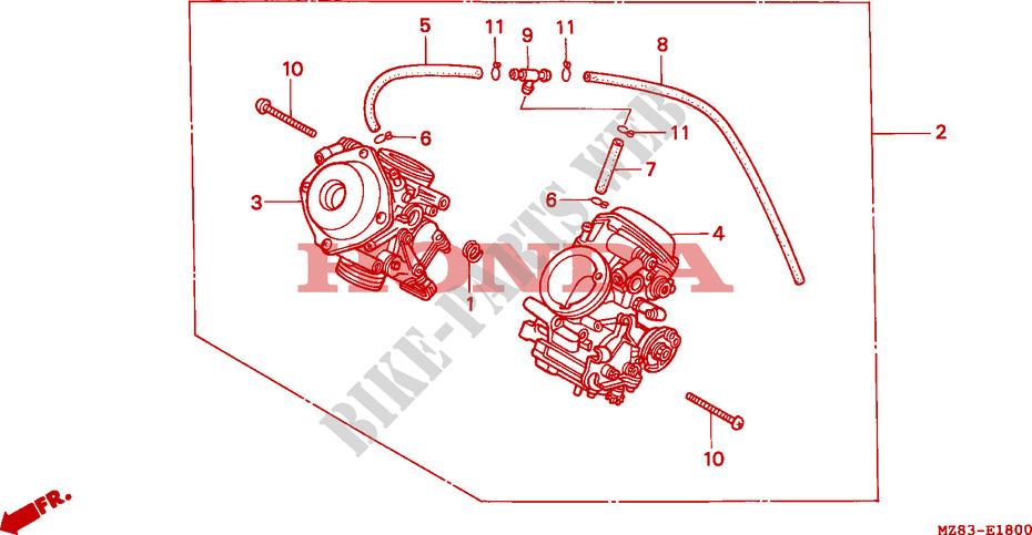 Carburetor Assy Engine Vt600ct 1996 Vt 600 Moto Honda Motorcycle
